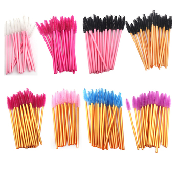 50PCS Eyelash Brushes Disposable Mascara Wands False Eyelashes Extension Brush Eyebrow Applicators Makeup Lash