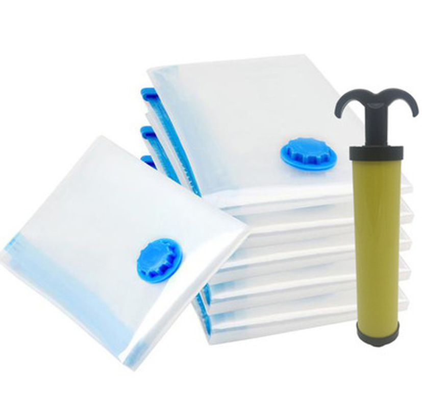 1PCS Vacuum Bag For Clothes Storage Bag With Valve Home Organizer Foldable Compressed Large Space Saving Seal Bags Outdoor Tools