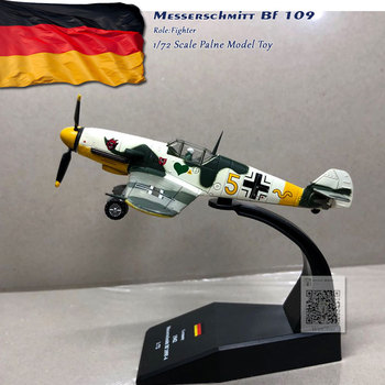 3pcs/lot Wholesale WLTK 1/72 Scale Military Model Toys German Bf-109 Fighter Diecast Metal Plane Toy