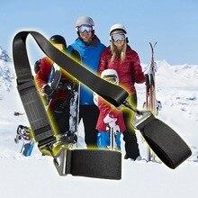 Лыжный плечевой ремень черный супер прочный регулируемый ручной фиксированный ремень для переноски для сноуборда лыжная палка