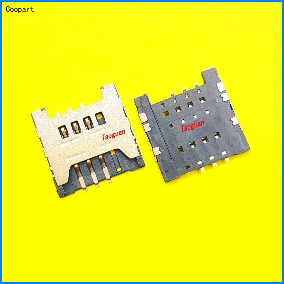 2pcs/lot Coopart New SIM Card Socket Reader Holder Tray Replacement For Samsung GT-S6500D I9228 S8500 Top Quality