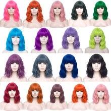 Женские парики для косплея vicwig bobo зеленые красные синие