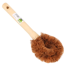Long Handle Natural Coconut Brown Non-stick Oil Pot Brush Dish Washing Tool Kitchen Supplies Cleaning