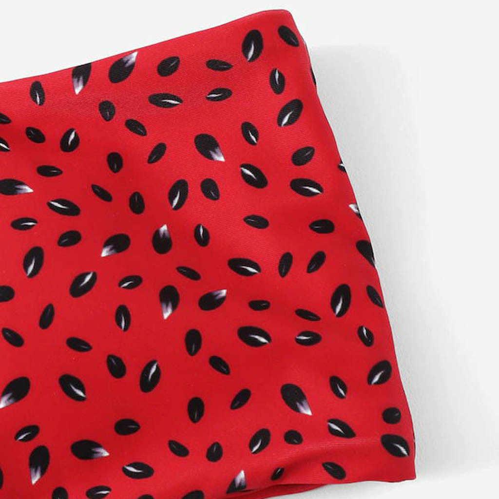 JAYCOSIN 女性のツーピース充填ブラジャーセクシーなスイカ印刷スプリット水着女性のブラジャー夏ランジェリービーチウェアワイヤー送料 19Nov29