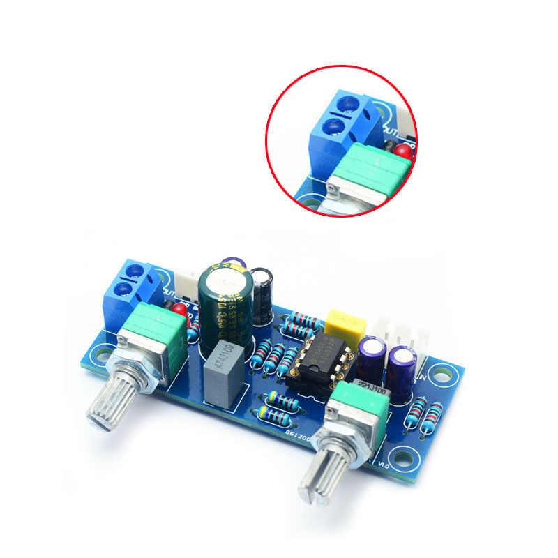 Dolnoprzepustowym filtrem Bass Subwoofer przedwzmacniacza płyta wzmacniacza podwójna moc NE5532 dolnoprzepustowym filtrem bas przedwzmacniacz zestaw do samodzielnego montażu