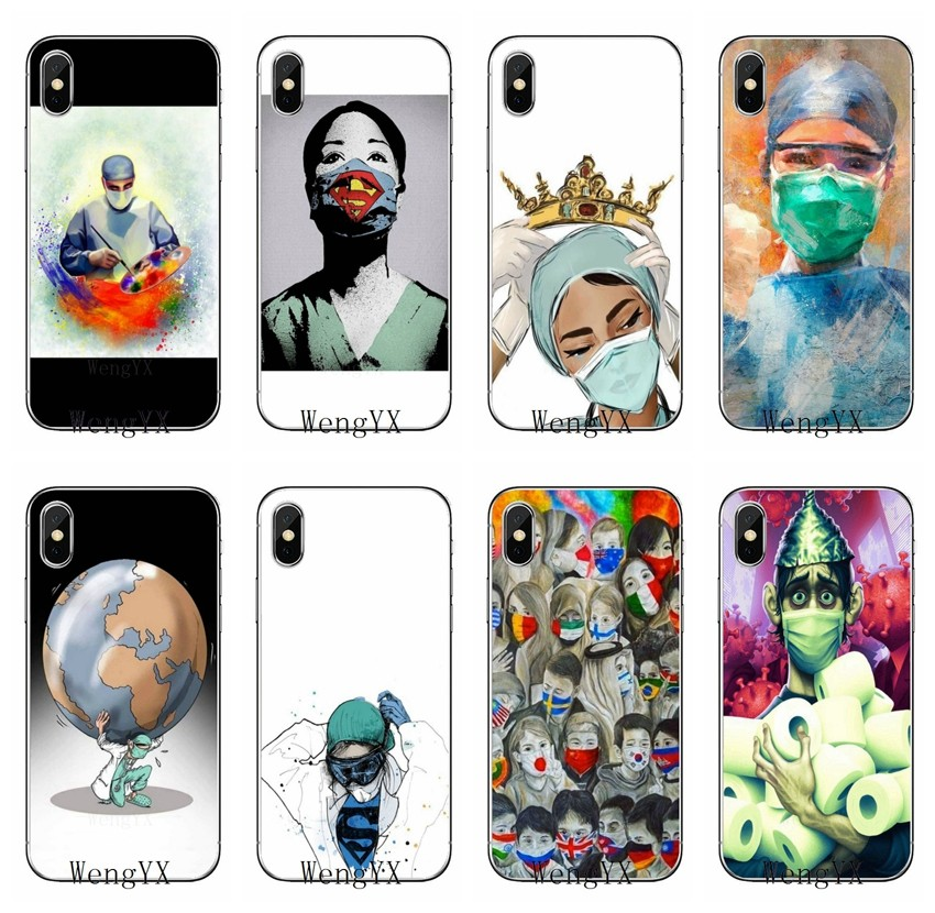 Nurse Queen Doctor King Fight Accessories Phone Case For iPhone 11 Pro XS Max XR X 8 7 6 6S Plus 5 5S SE 4S 4 iPod Touch 5 6(China)