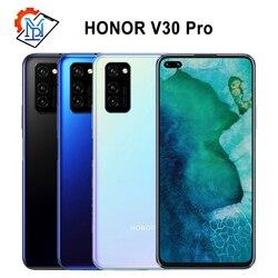 Оригинальный Honor V30 Pro 5G мобильный телефон 6,57 дюйм8 ГБ + 256 ГБ Восьмиядерный Android 10 AI Тройная камера 40 Вт SuperCharge Samrtphone