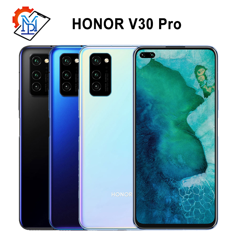 "Original Honor V30 Pro 5G Mobile Phone 6.57"" 8GB+256GB Kirin990 Octa core Android 10 AI Triple Camera 40W SuperCharge Samrtphone"