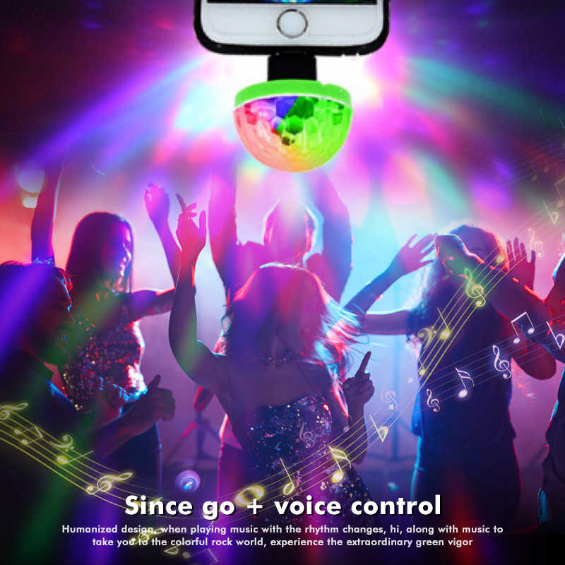 Mini LED USB Disco Licht LED Party Lichter Tragbare Kristall Magic Ball Bunte Wirkung Bühne Lampe Für Home Party Karaoke decor