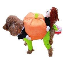 Модный смешной костюм для собаки Тедди костюм для собаки превратился в тыквенный загруженный питомец милый костюм для собаки