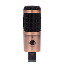 Professional USB Condenser Microphone Computer Microphone with Volume Adjusting Microphone For PC Laptop MAC(China)