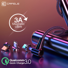 Cafele Newest L type QC3.0 Magnetic USB Fast Charging & Data Sync Cable C Micro for iPhone Samsung Xiaomi Huawei