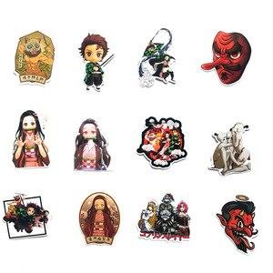 Image 2 - Pegatina de animé Demon Slayer: Kimetsu No Yaiba de PVC pegatinas de grafiti, Maleta, equipaje, guitarra para niños, juguetes F3, 50 Uds.