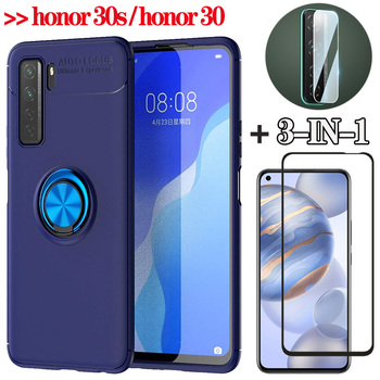 3in1, magnetic Case for Huawei honor 30s honor30 case Magnet Ring Holder honor 30 s telephone Cover honor30s honor-30s case lens