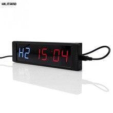 Programmabile di Formazione Timer Display A LED Intervallo Timer Orologio Da Parete con Telecomando per la Palestra di Allenamento Fitness 5V