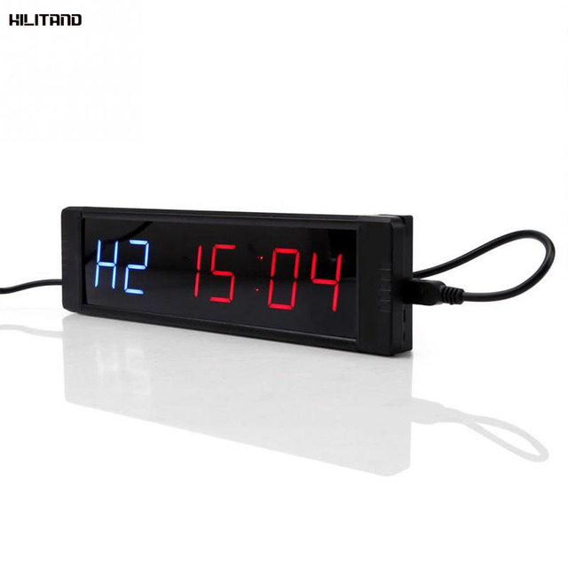 Programmable Training Timer LED Display Interval Timer Wall Clock with Remote for Gym Fitness Training 5V