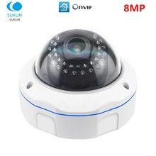 Купольная ip камера 8 МП 4k Антивандальная видеонаблюдения с