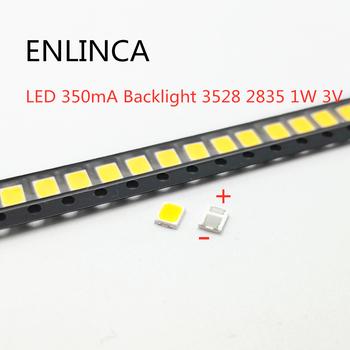 50-100 sztuk oryginalne do lg LED 100-120LM 350mA podświetleniem 3528 2835 1W 3V 120LM zimny biały podświetlenie lcd dla do tv tanie i dobre opinie ENLINCA Nowy Do montażu powierzchniowego 3528 LED