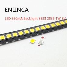 50-100 pces original para lg led 100-120lm 350ma backlight 3528 2835 1 w 3 v 120lm branco fresco lcd luminoso para aplicação de tv