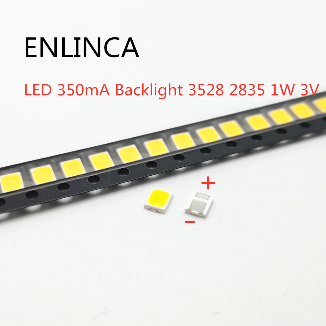 50-100pcs Original For LG LED 100-120LM 350mA Backlight 3528 2835 1W 3V 120LM Cool white LCD Backlight for TV Application