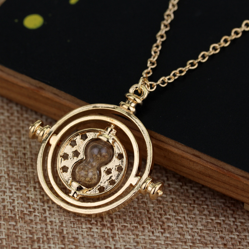 Cross Border Electricity Supplier Europe And America Accessories Hot Selling Harry Potter Time Adapter Sand Filter Necklace Swea