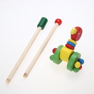 Image 5 - Bebê única barra coagente novo pato carro dos desenhos animados animais carrinho de madeira carrinho de criança criança criança colocando puzzle brinquedos