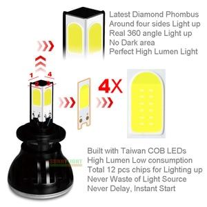 Image 3 - CNSUNNYLIGHT 8000Lm G5 4 Sides 360 Degrees LED H4 H7 H11 9006/HB4 9005/HB3 COB Car Headlight Bulbs 60W  DC 12V Fog Light 6000K