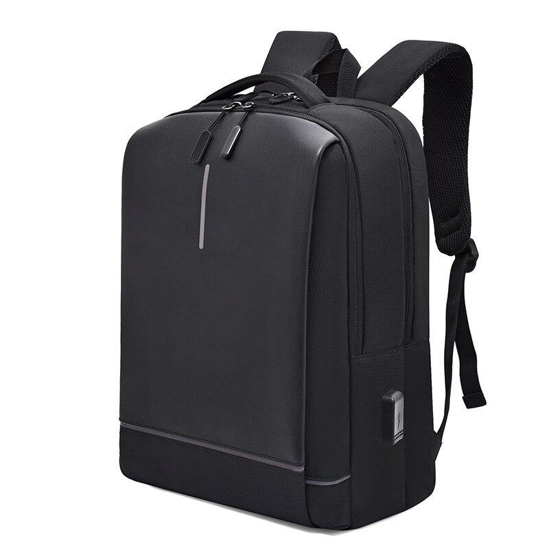 Image 2 - Mens Laptop Backpack Oxford Luminous Waterproof Backpack USB  Interface Business Travel Backpack Teenager School Bags  RucksackBackpacks