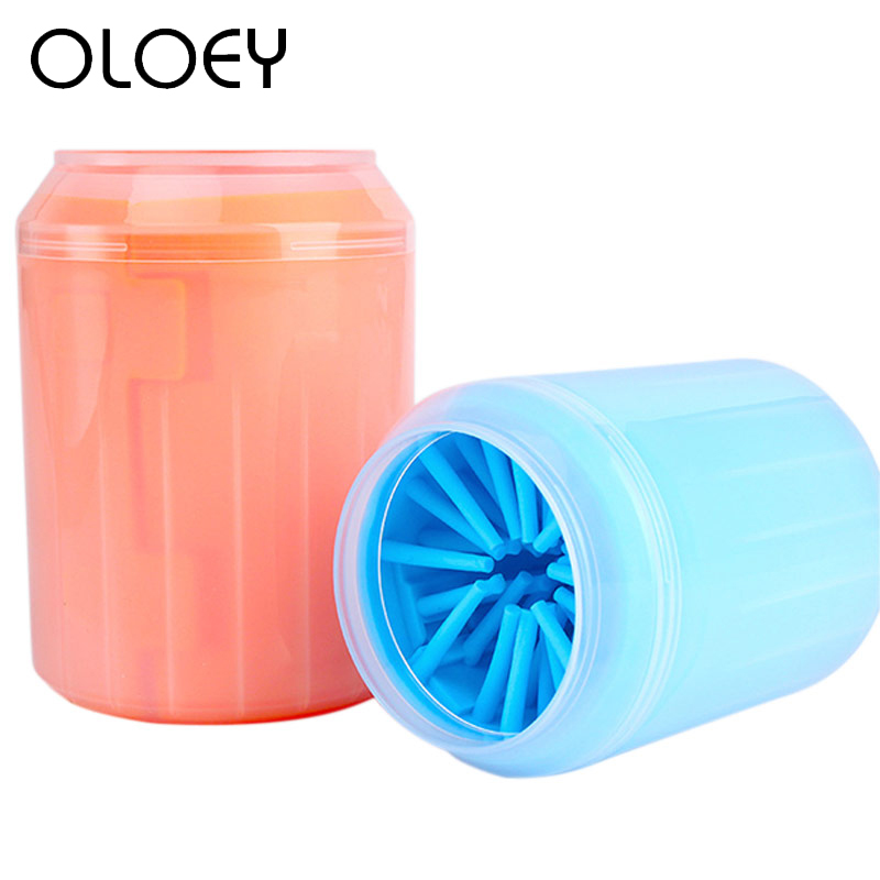 Soft Silicone <font><b>Dog</b></font> <font><b>Paw</b></font> <font><b>Cleaner</b></font> Cup Combs Portable Pet Foot Washer Cup <font><b>Paw</b></font> Clean Brush Quickly Wash Dirty Cat Foot Cleaning Bucket image