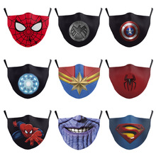PM2.5-FILTER Spider-Man Kids Marvel Washable Disney Can Dust-Mouth Captain-America Built-In