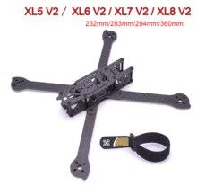 3K מלא פחמן סיבי TrueX XL5 V2 232mm/ XL6 V2 283mm / XL7 V2 294mm / XL8 V2 360mm/XL9 V2 390mm זרוע 4mm פריסטייל מסגרת עבור FPV