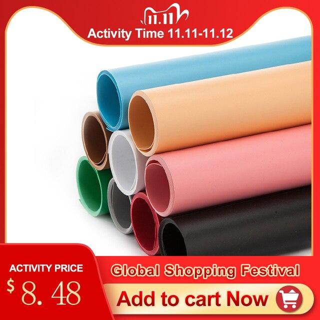 68*130 Cm Màu Mờ Mờ PVC Nền Tấm Chụp Ảnh Phông Nền Vải Chống Nước