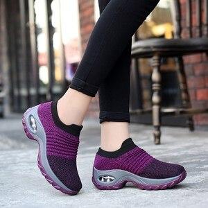 Image 2 - Zapatillas Mujer Mới Dành Cho Nữ Tenis Feminino Sock Không Khí Giảm Chấn Thường Lưu Hóa Giày Scarpe Donna Iệu Damskie Size 35  42