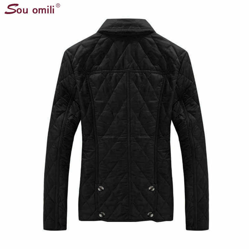 Quilted Cotton-padded Jacket Women Black Lozenge Winter Jacket Plus size Coat femininas chaqueta Pockets Outerwear