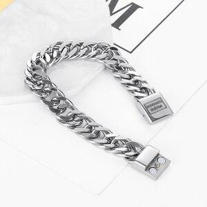 Image 5 - Fiets Ketting Buddha Polsband Mode Nieuwe Link Chain Roestvrij Stalen Armband Vrouwen Zware 12MM Wide Mens Boeddha Bangle ZTB423 4