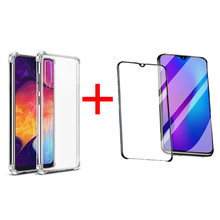 Transparent Phone Case For Samsung Galaxy A70 Screen Protector Cover Soft TPU Silicone