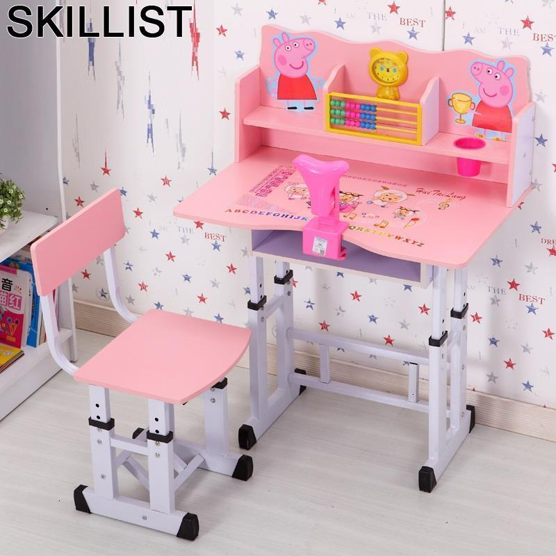 Bambini Kindertisch Child Avec Chaise De Estudo Desk Y Silla Adjustable For Bureau Enfant Kinder Mesa Infantil Study Kids Table