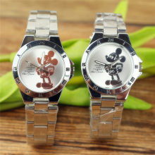 Disney Mickey Mouse Minnie Kids Student Cartoon Watch Aolly Steel Quartz Watches Clock for Boys Girls Gift(China)