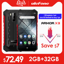Ulefone Mt6580 Armor X3 Rugged Smartphone 32GB GSM/WCDMA Quad Core Face Recognition 8mp