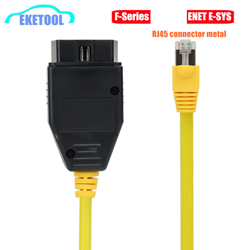 ENET Data Cable For BMW Ethernet to OBD2 16Pin Interface RJ45 Metal Connector ESYS 3.23.4 V50.3 Data E-SYS ICOM Coding F-Serie(China)