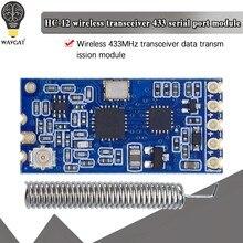 Série sem fio do microcontrolador HC-12 si4463, 433 de longa distância, 1000m com antena para bluetooth