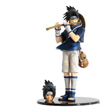 "10.24"" Anime NARUTO Uchiha Sasuke Flute Piping Uzumaki Naruto's Partner GK Box Action Figure Collectible Model Toy 26cm Z36 1"