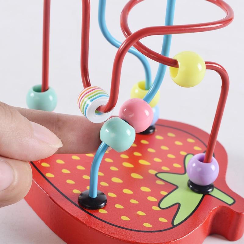 Children'S Educational Mini Small Bead-stringing Toy Wooden Toys Small Bead-stringing Toy Building Blocks Toy Bead Toy
