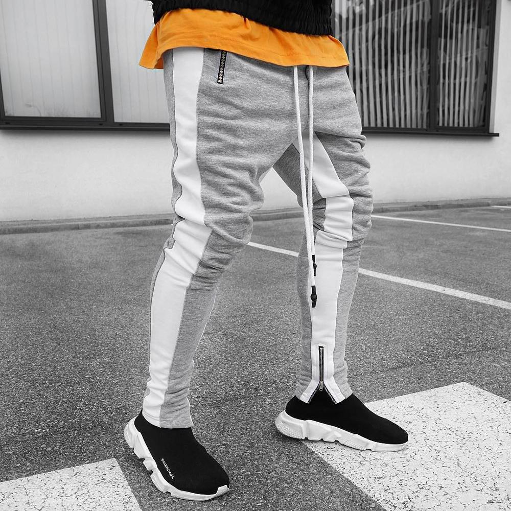Mens Cotton Joggers Sport Running Pants Fitness Men Sportswear Tracksuit Bottoms Skinny Sweatpants Trousers Gyms Track Pants 5