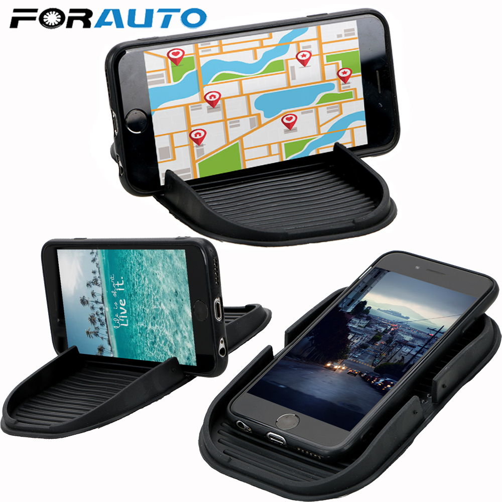 FORAUTO Multifunction Car Dashboard Cell Phone Holder Interior Accessories Car-styling Storage Mat GPS Display Bracket