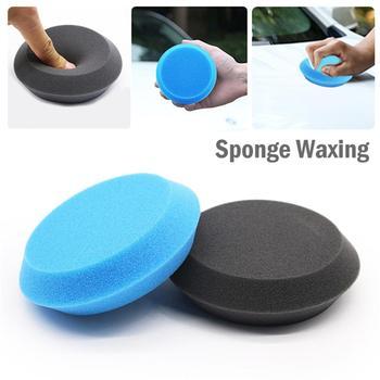 1 sztuk pianki samochodowe woskowanie podkładki gąbka do czyszczenia polerowanie woskowanie wosk pianka aplikator z gąbką pielęgnacja samochodu czyste mycie farby narzędzie do polerowania tanie i dobre opinie Goxfaca circular Car Foam Waxing Pads 4 Inch