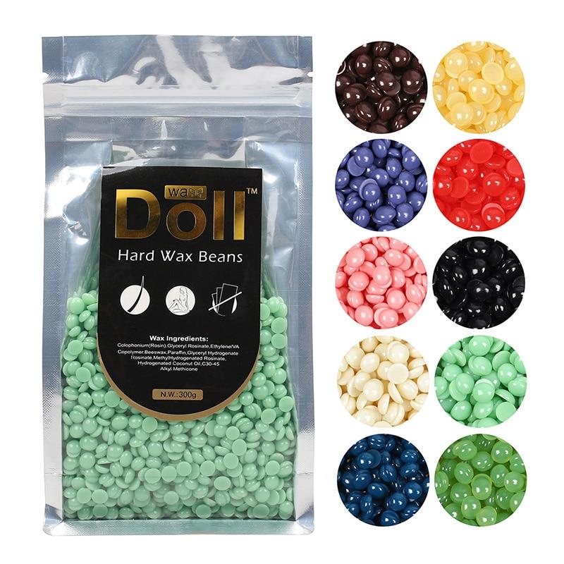 300g Painless Depilatory Pearl Hard Wax Beans Brazilian Granules Hot Film Wax Bead For Hair Removal Women Hair Removal Bean Tool