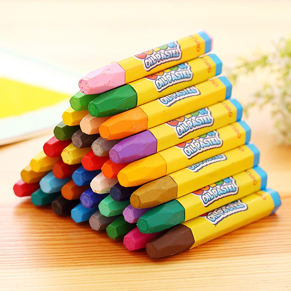 12/18/24/36 Color Non-Toxic Kids Wax Crayon Stick Painting Drawing Sketching Oil Pastel