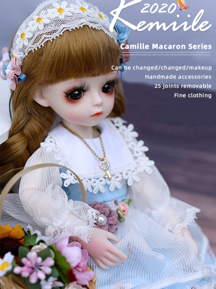 18-Ball Dolls Wig-Shoes Joints Toys Dress Makeup Best-Gifts-Collection 30CM Full-Outfits
