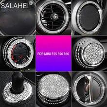 Kryształ diament samochodowe Multimedia pokrętło dekoracji pokrywy nadające się do MINI F55 F56 F60 COOPER CLUBMAN COUNTRYMAN akcesoria do wnętrza samochodu